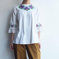 Flower Hand  embroidery East Europe  blouse