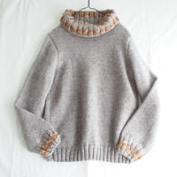 Hand knit turtle neck sweater