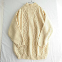 HAND KNIT high neck long sweater