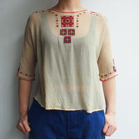 〜1940's East Europe hand embroidery Antique