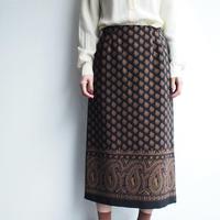 Black paisley skirt