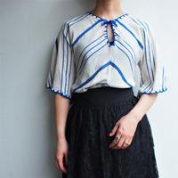 1970's Blue cotton blouse