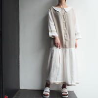 Linen Round neck collar dress