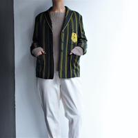 1960's Green Yellow stripe tailored jacket