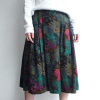 Velours flower skirt