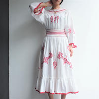 Cotton Red Embroidery dress