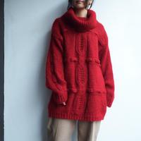 Mohair blend  turtleneck big knit