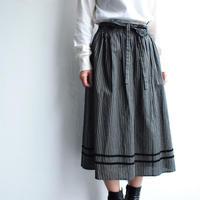 Velor tape cotton skirt