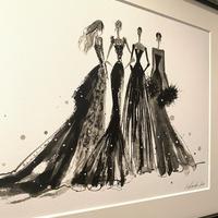Black dress(ジークレープリント、限定枚数)
