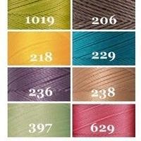 【限定セット】Linhasita社製ワックスコード<取り扱い60色> 0.75mm (ロウビキ紐 蝋引き紐 waxcord)|8本(8色)新色セット