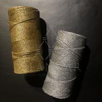【LINHASITAワックスコード】新製品OURO(金)とPRATA(銀)数量限定 LINHASITA社製 1mm (ロウビキ紐 蝋引き紐 waxcord)