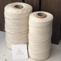 マクラメ糸 macramé コットンロープ 2mm(撚り糸)