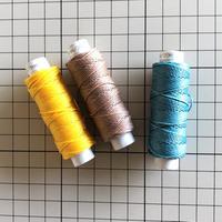 【20m小巻】LINHASITA社製ワックスコード<取り扱い60色> 0.75mm (ロウビキ紐 蝋引き紐 waxcord)|お好きな3色セット