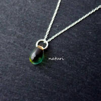 【rosee】glass drop necklace yel/grn