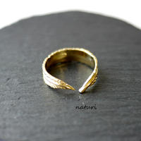 【plume】brass feather ring