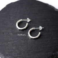 【tronc】sv925 hammered pierce S (2pcs)