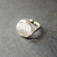 【fleur】sv925 flower of life ring