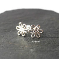 【fleur】sv925 flower pierce Ⅲ (2pcs)