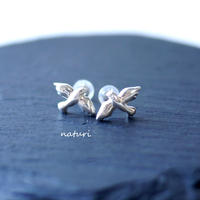 【pigeon】sv925 dove pierce (2pcs)