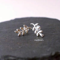 【feuille】sv925 leaf pierce Ⅱ (2pcs)