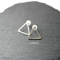 【triangle】sv925 sankaku pierce (2pcs)