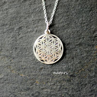 【fleur】sv925 flower of life necklace