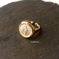 【medaille】brass miraculous medal ring