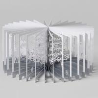 360°BOOK「 雪降る森 / Snowy World」大野友資・作(青幻舎)