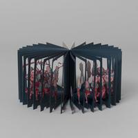 360°BOOK「 葛飾北斎 雀踊り / HOKUSAI SUZUME ODORI」大野友資・作(青幻舎)