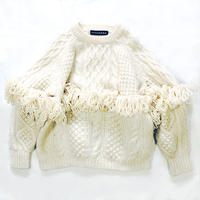 CABLE MIX FRINGE TOP
