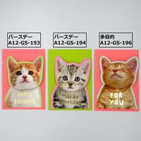 ねこスプリング付カード