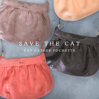 CAT GATHER POCHETTE  MEDIUM  【kura】