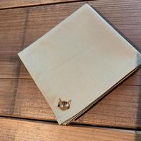 NECOREPA 刺繍ハンカチNo15 ダークベージュ茶トラ