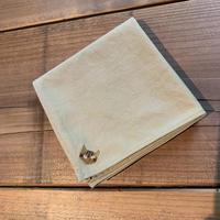 NECOREPA 刺繍ハンカチNo10 バーチ茶トラ