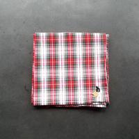 NECOREPA 刺繍ハンカチNo19 チェック三毛