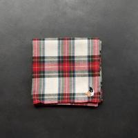 NECOREPA 刺繍ハンカチNo9 タータン三毛