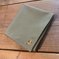 NECOREPA 刺繍ハンカチNo5 バジル茶トラ
