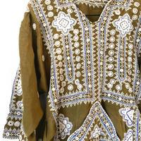 vintage baloch  dress khaki
