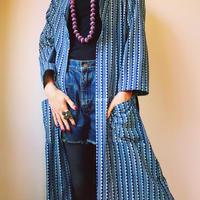 🅱️  block print kimono long shirt