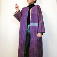 カンタ刺繍コート purple