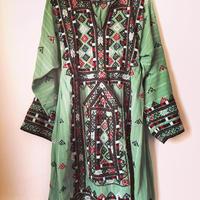 vintage baolch dress モスグリーン