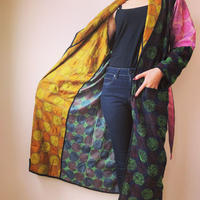 Silk Kantha Circle Kimono Jacket Summer ver.