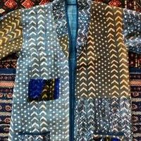 vintage  Indigo kantha  long coat ⅳ