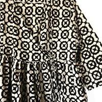 white black block print kashcourt  dress