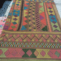 kalbeliya traditional hand embroidery rug C