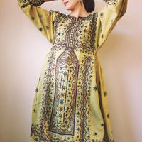 vintage baloch  dress yellow