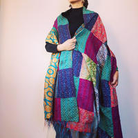 カンタ刺繍パッチワーク big shawl
