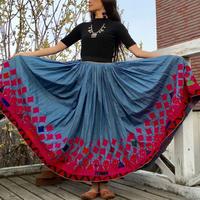 インド・ラジャスタンアンティーク刺繍ロングスカート