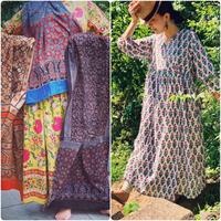 数量限定 ✴︎ Special Summer set / ajurakh &   block print kashcourt  dress