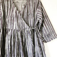 Gray stripe block print  kashcourt  dress